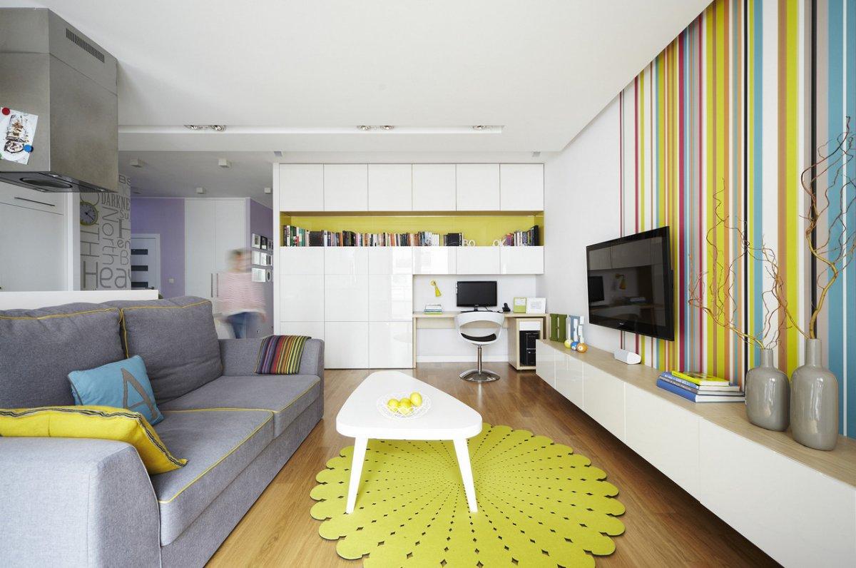 Однокомнатная квартира яркая