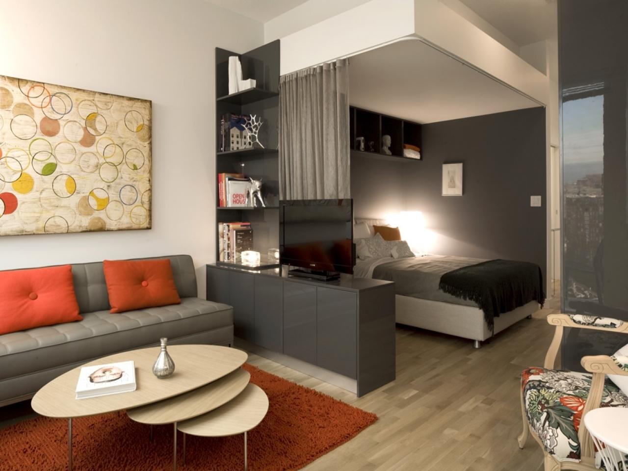 Спальня 17 кв м в однокомнатной квартире