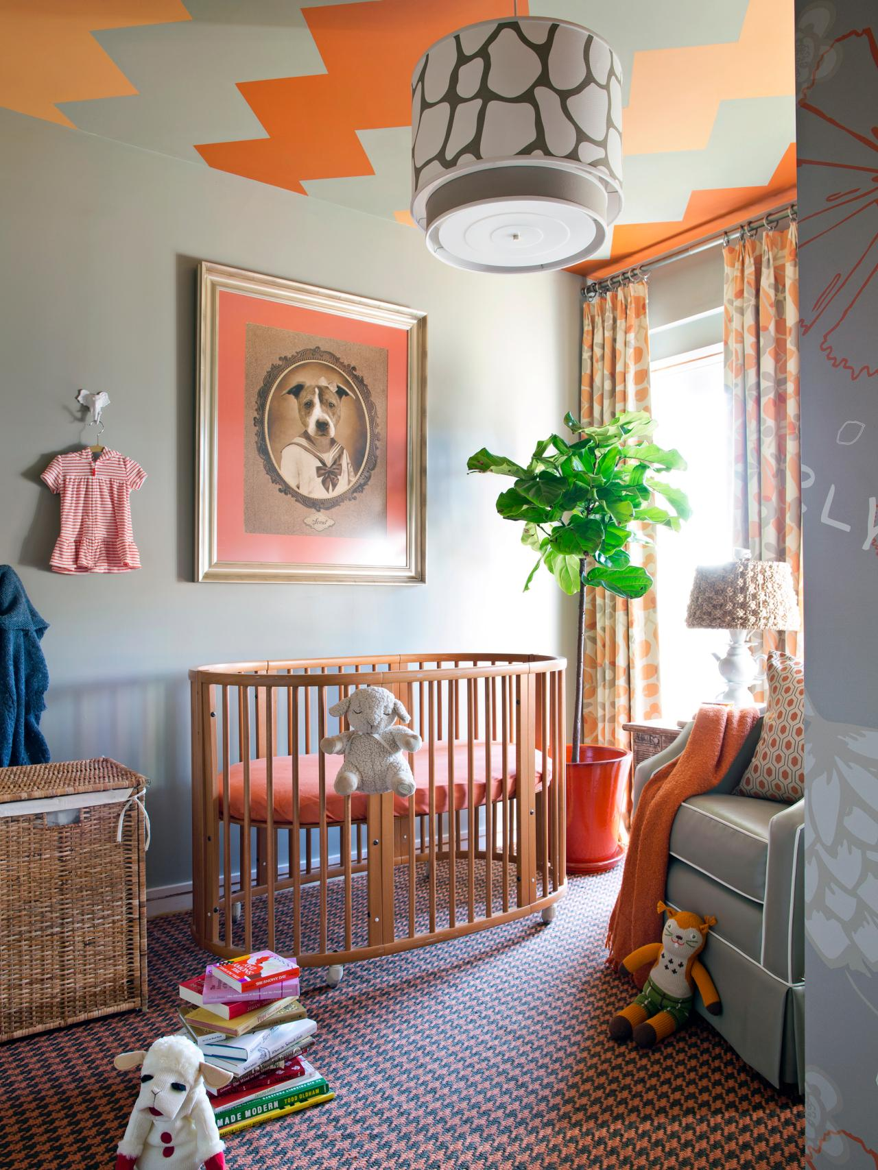 Детская в однокомнатной квартире с акцентами