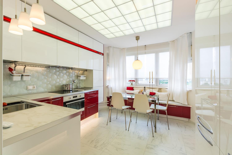 Кухня 9 кв м с балконом