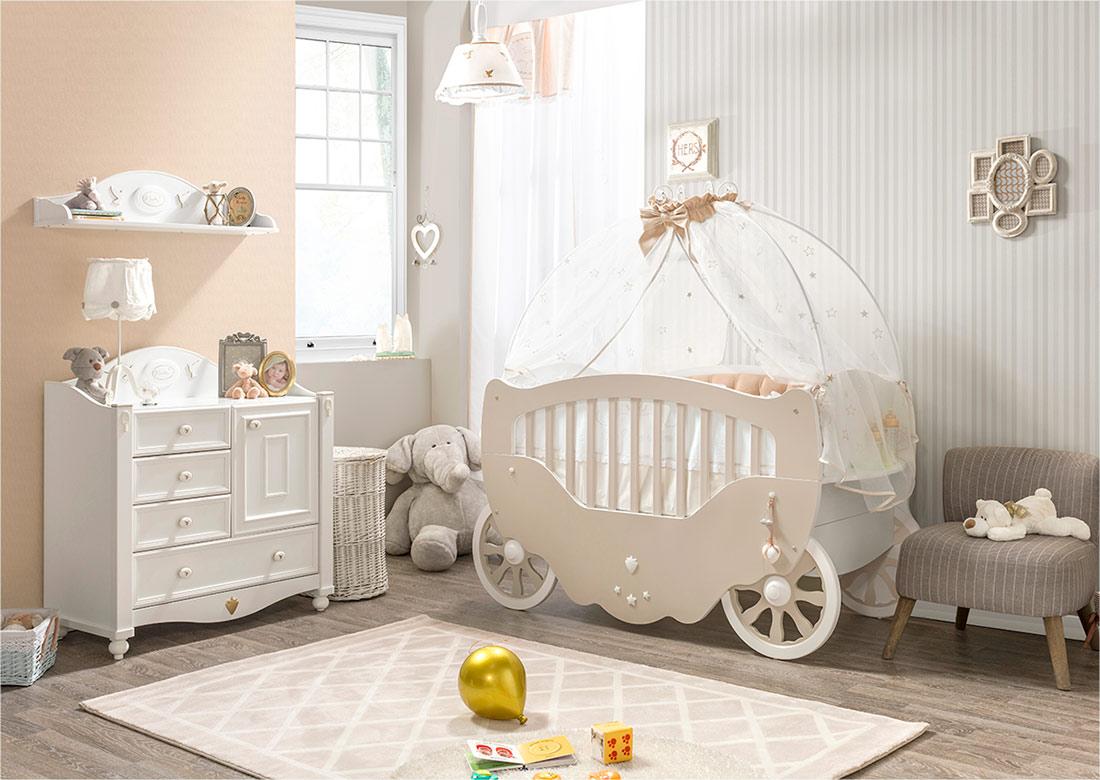 Детская комната в стиле прованс белая