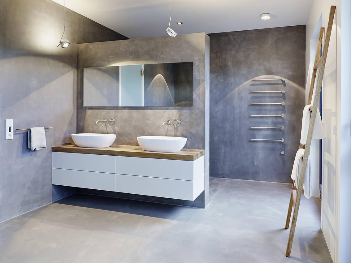 Совмещенная ванная комната под бетон