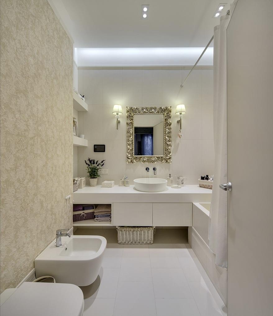 Совмещенная ванная комната с биде