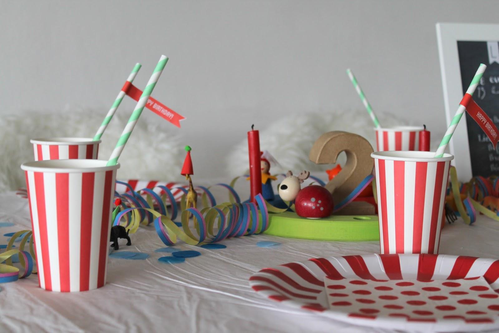 Оформление детского дня рождения бумажной посудой