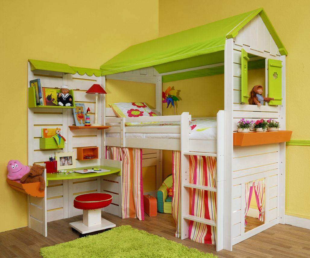 Детская 10 кв м с кроватью чердаком