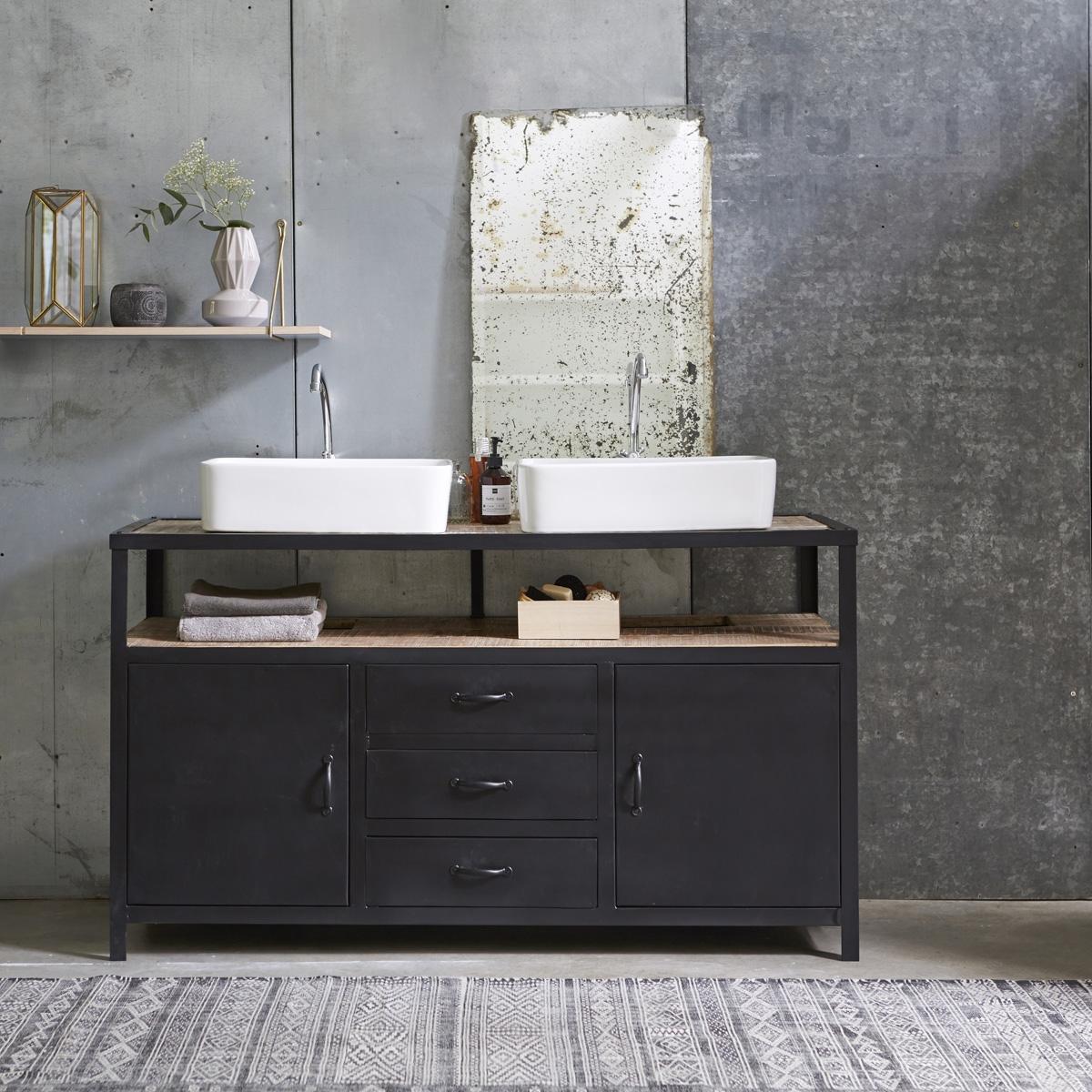 Мебель для ванной черная