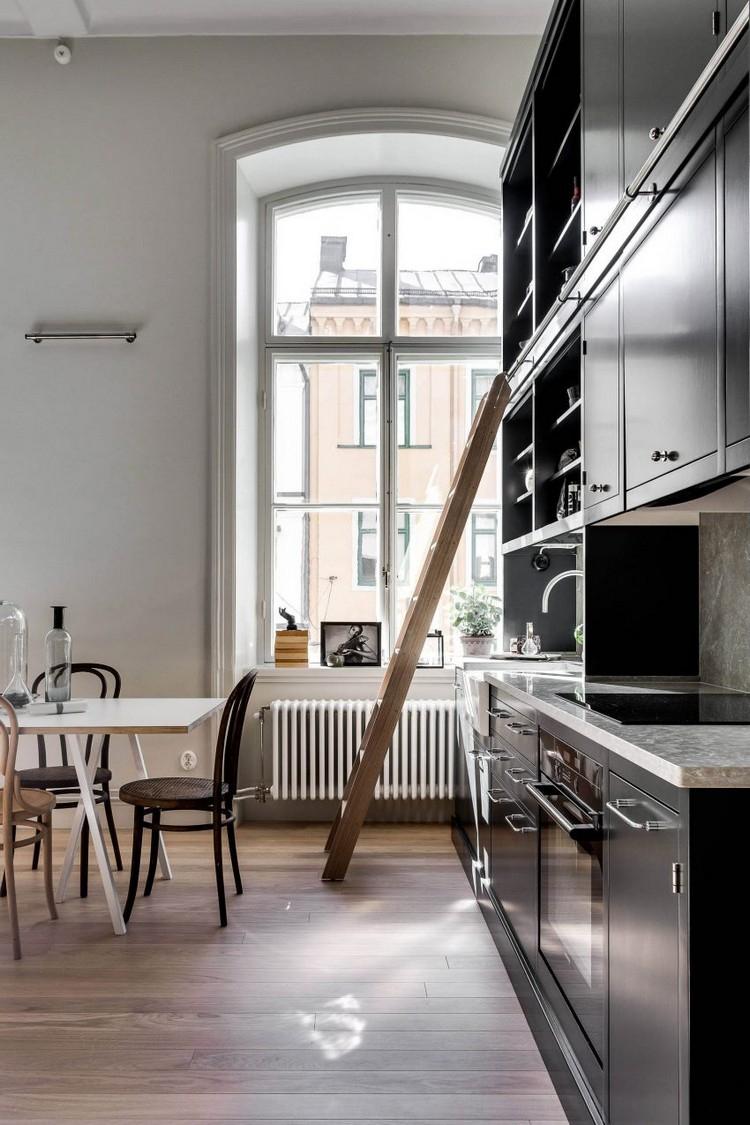 Интерьер квартиры студии черной