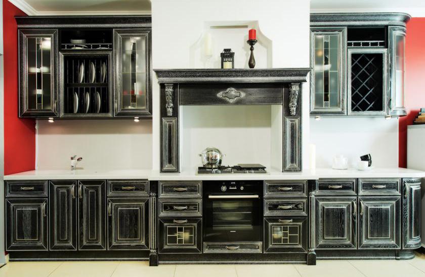 Замена черных фасадов кухонного гарнитура