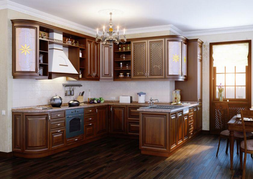 Замена фасадов классического кухонного гарнитура