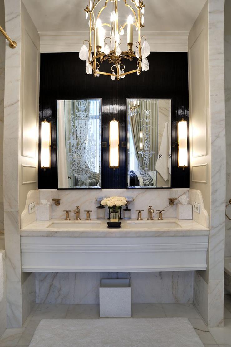 Интерьер ванной классический