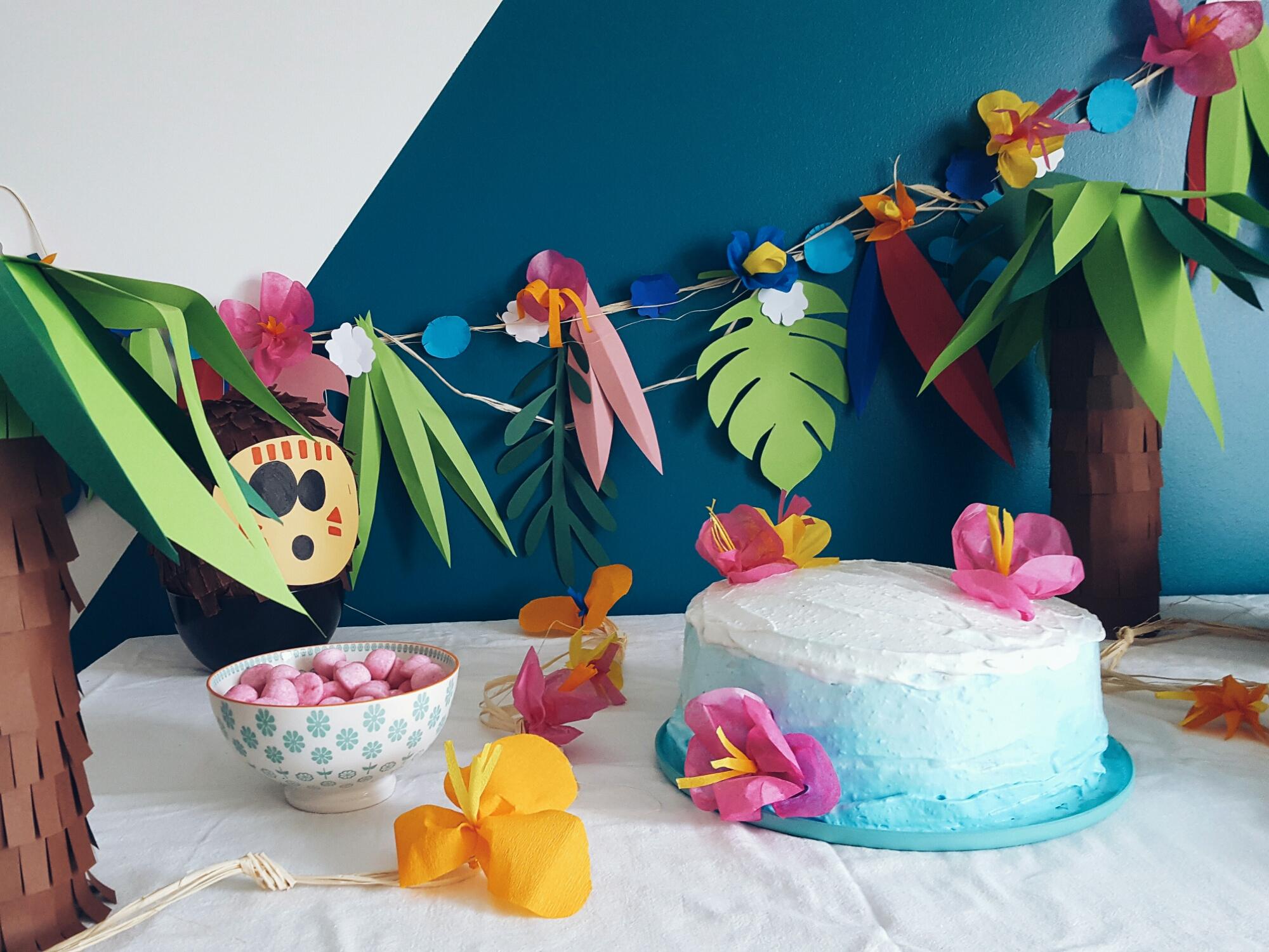 Оформление детского дня рождения цветной бумагой
