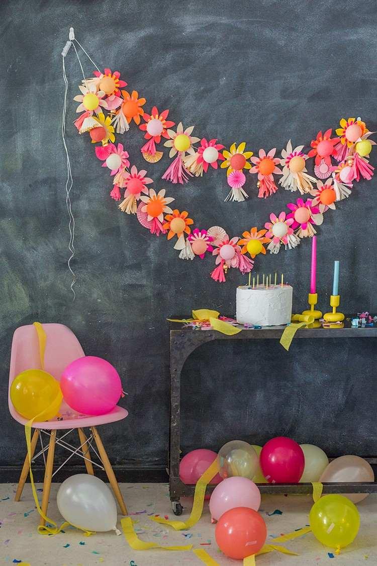 Оформление детского дня рождения цветами