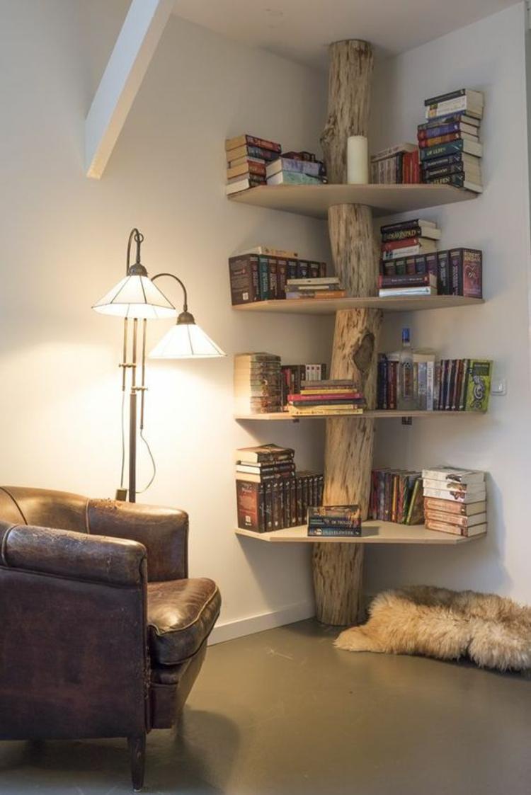 Интерьер квартиры студии с декором из дерева