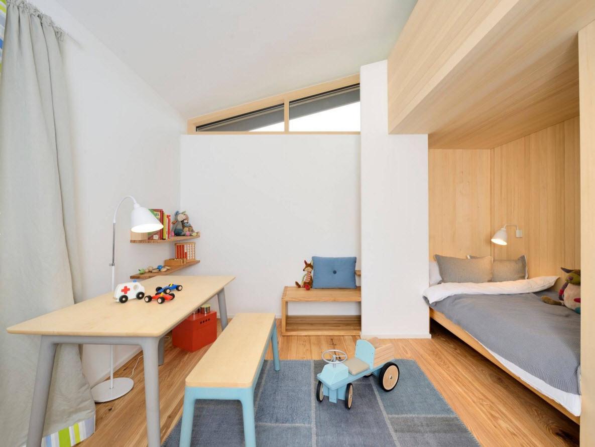 Детская в однокомнатной квартире деревянная