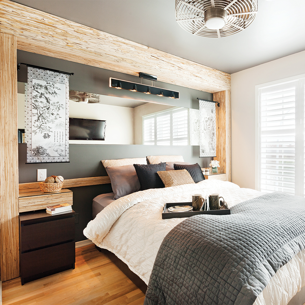 Маленькая спальня деревянная