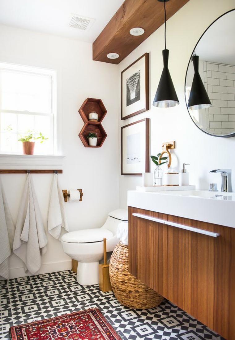 Интерьер ванной деревянной