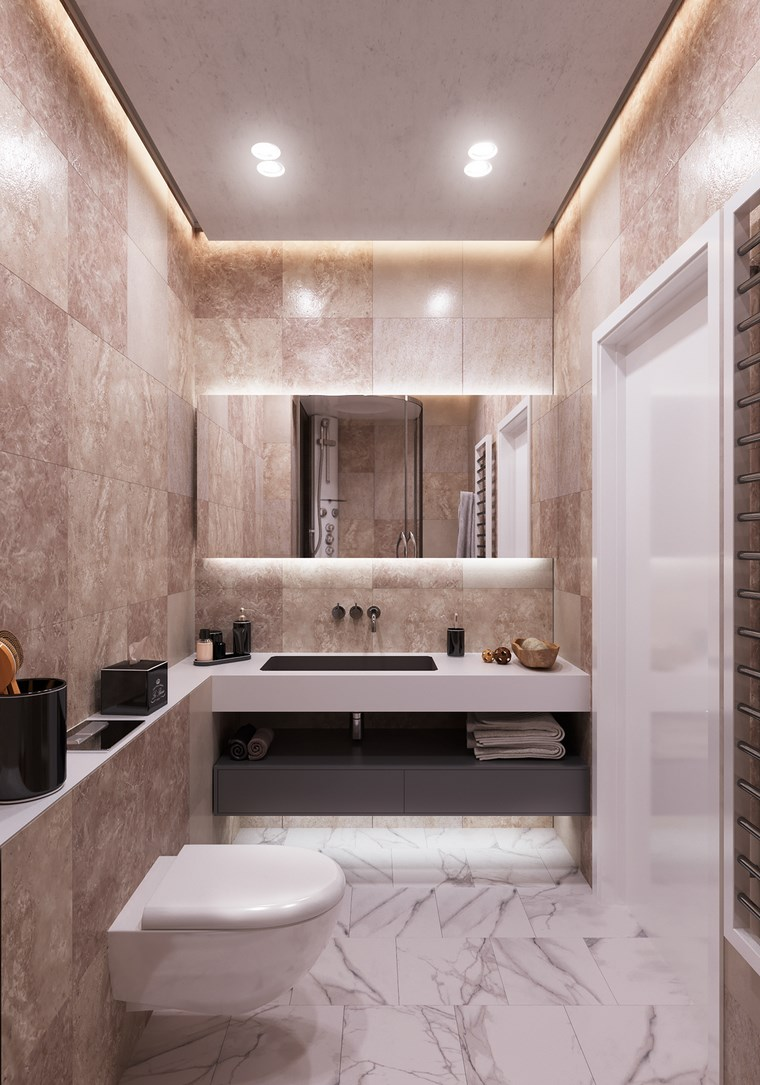 Дизайн зеркала в ванную