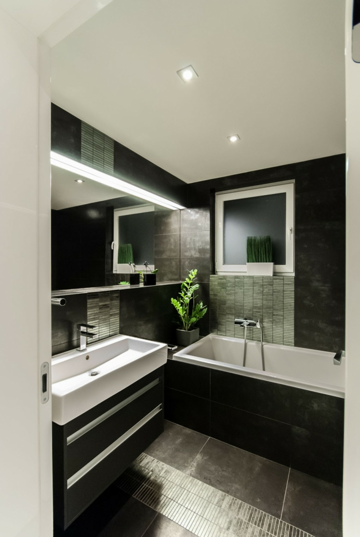 Черная ванная дизайн