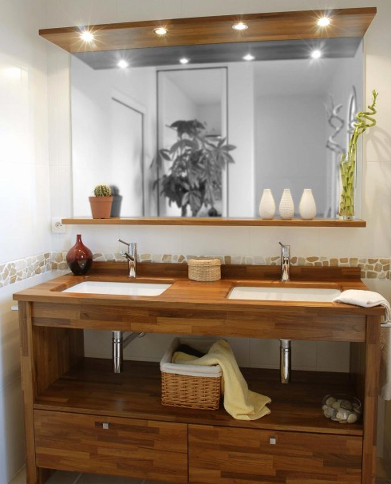 Мебель для ванной дубовая
