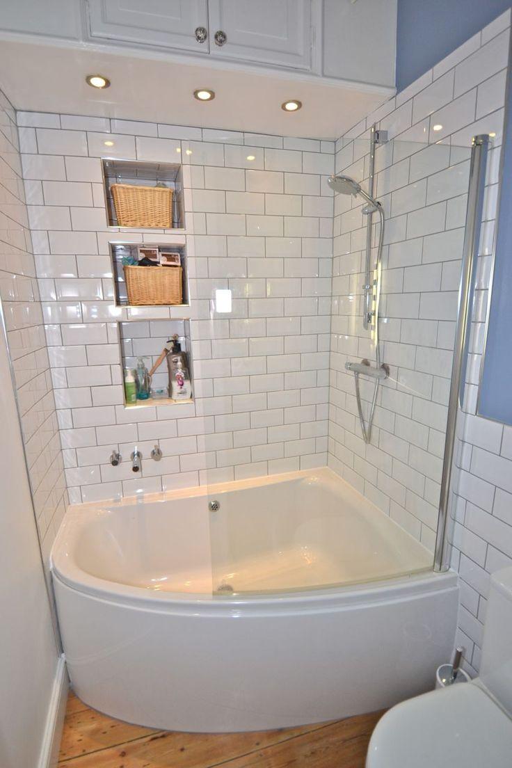 Угловая ванна с душевой