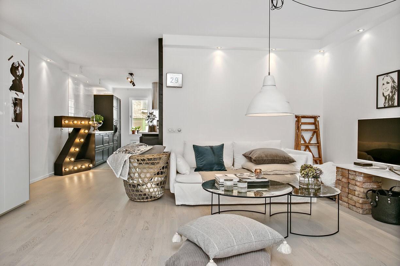 Дизайн однокомнатной квартиры в эклектичном стиле