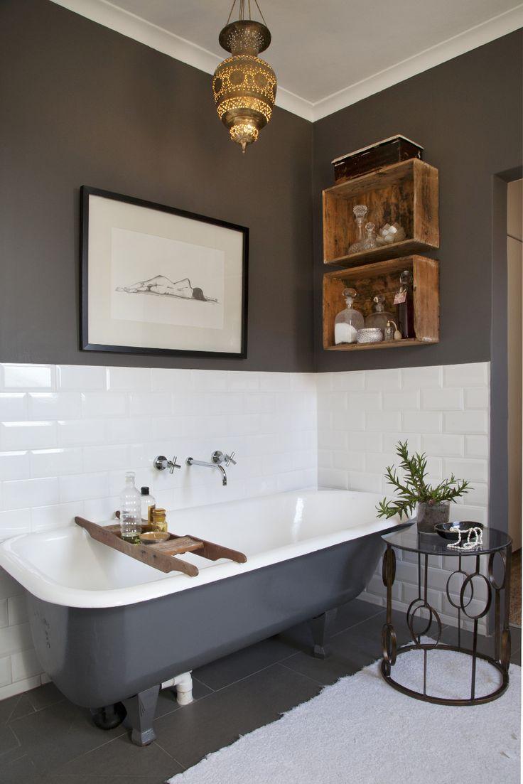 Совмещенная ванная комната в эклектичном стиле