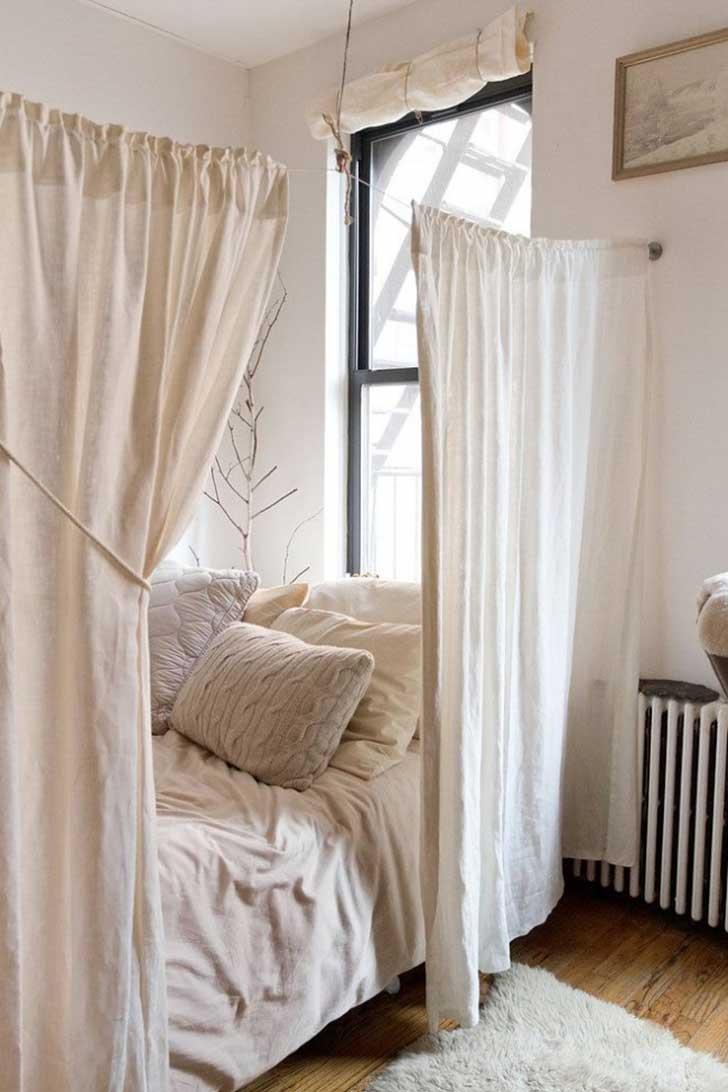 Маленькая спальня в стиле эко