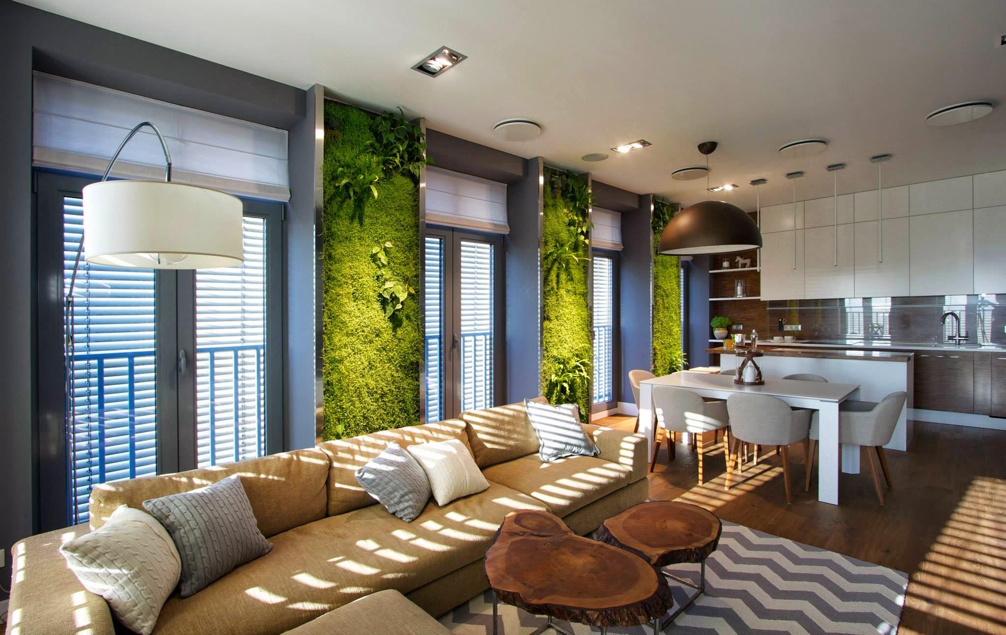 Дизайн однокомнатной квартиры в стиле эко