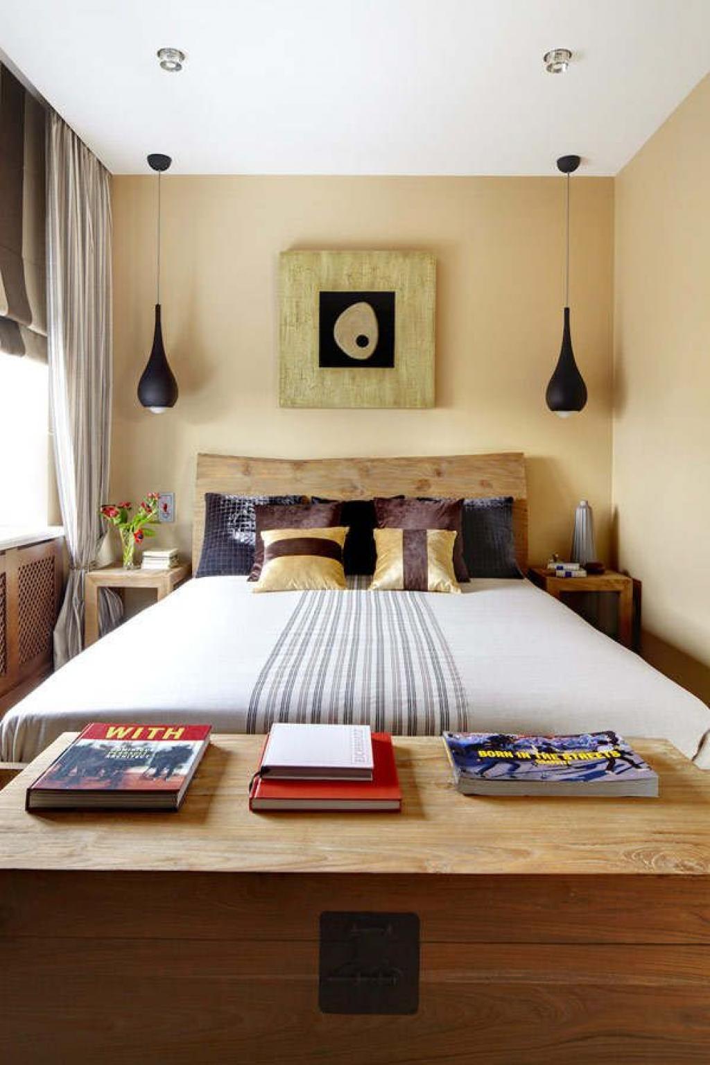 Маленькая спальня в стиле этно