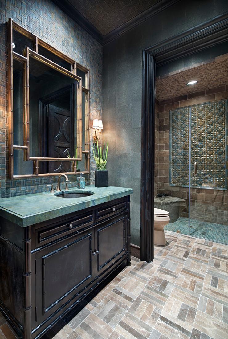 Интерьер ванной в стиле этно