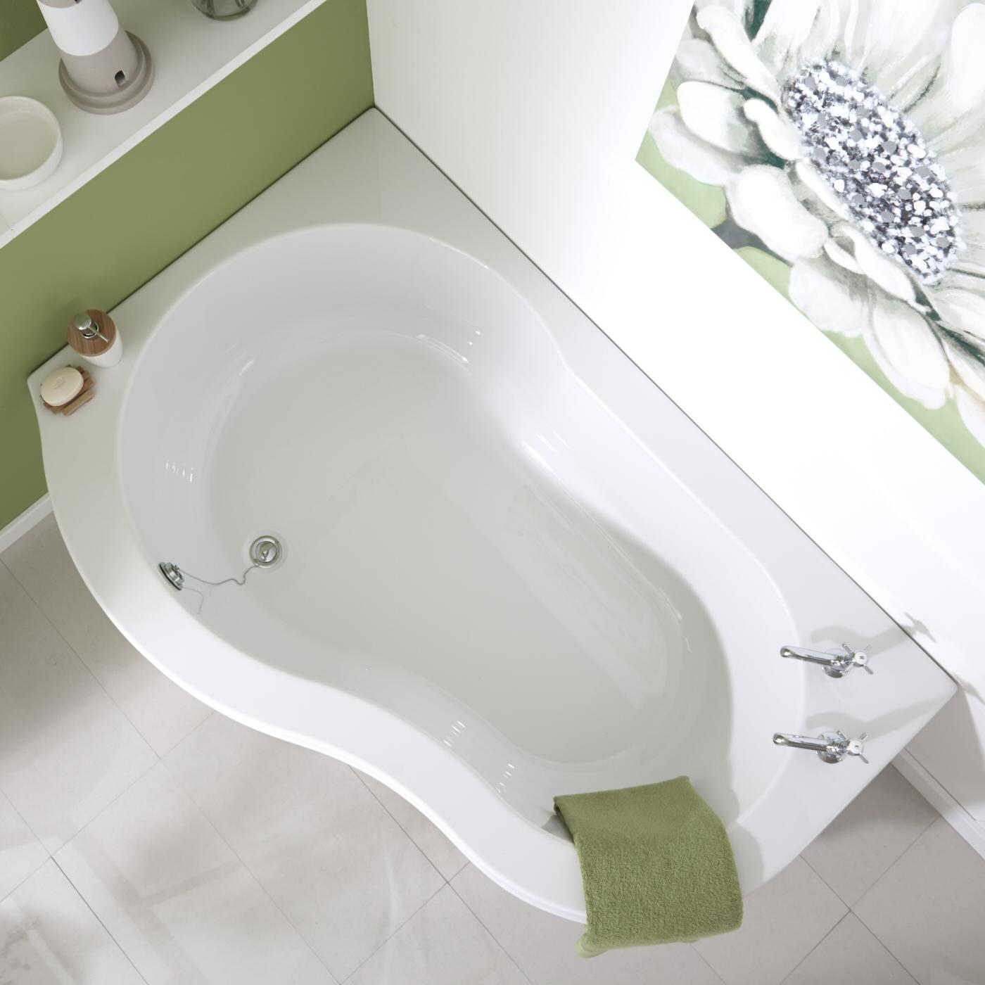 Угловая ванна фигурная