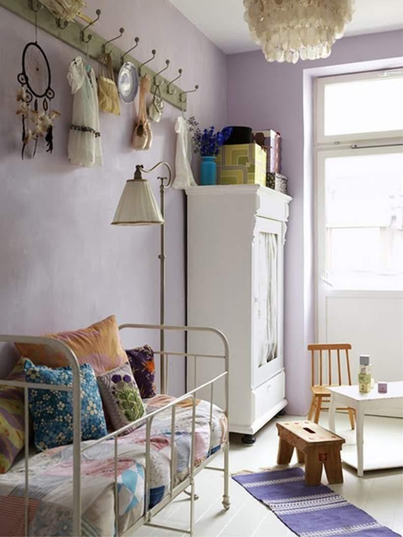 Детская комната в стиле прованс фиолетовая