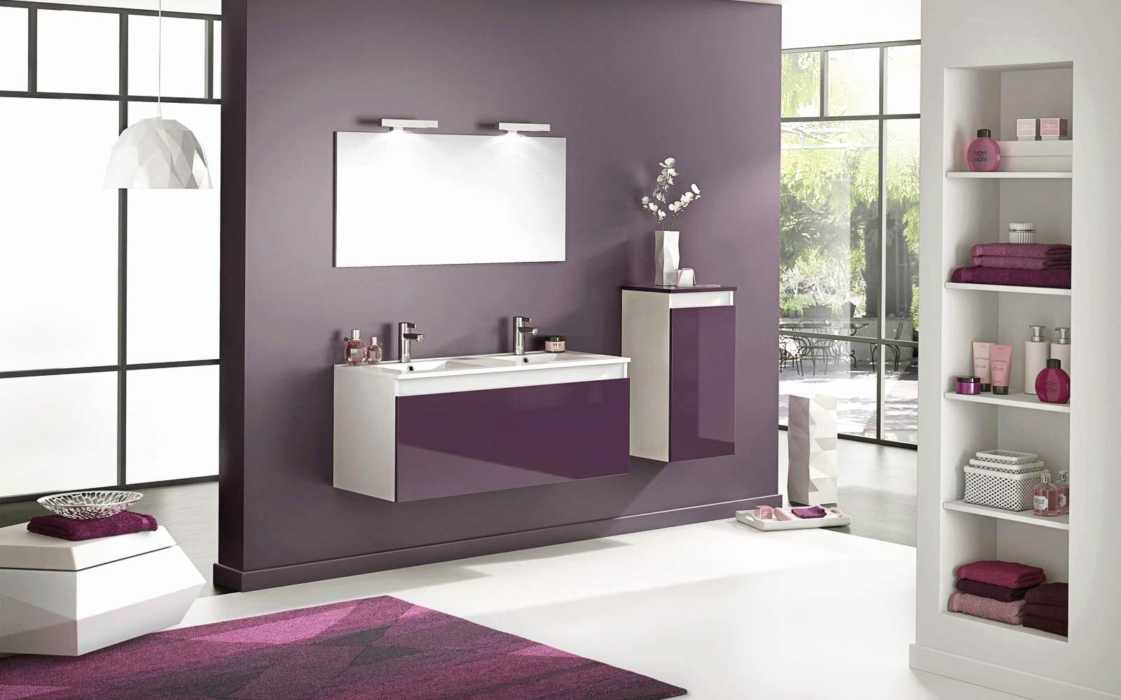 Мебель для ванной фиолетовая