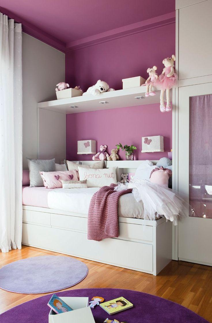 Детская комната для девочки фиолетовая