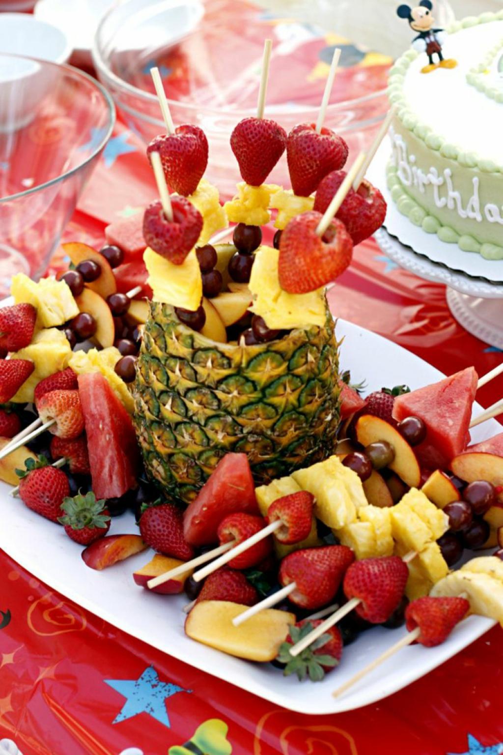 Оформление детского дня рождения фруктами