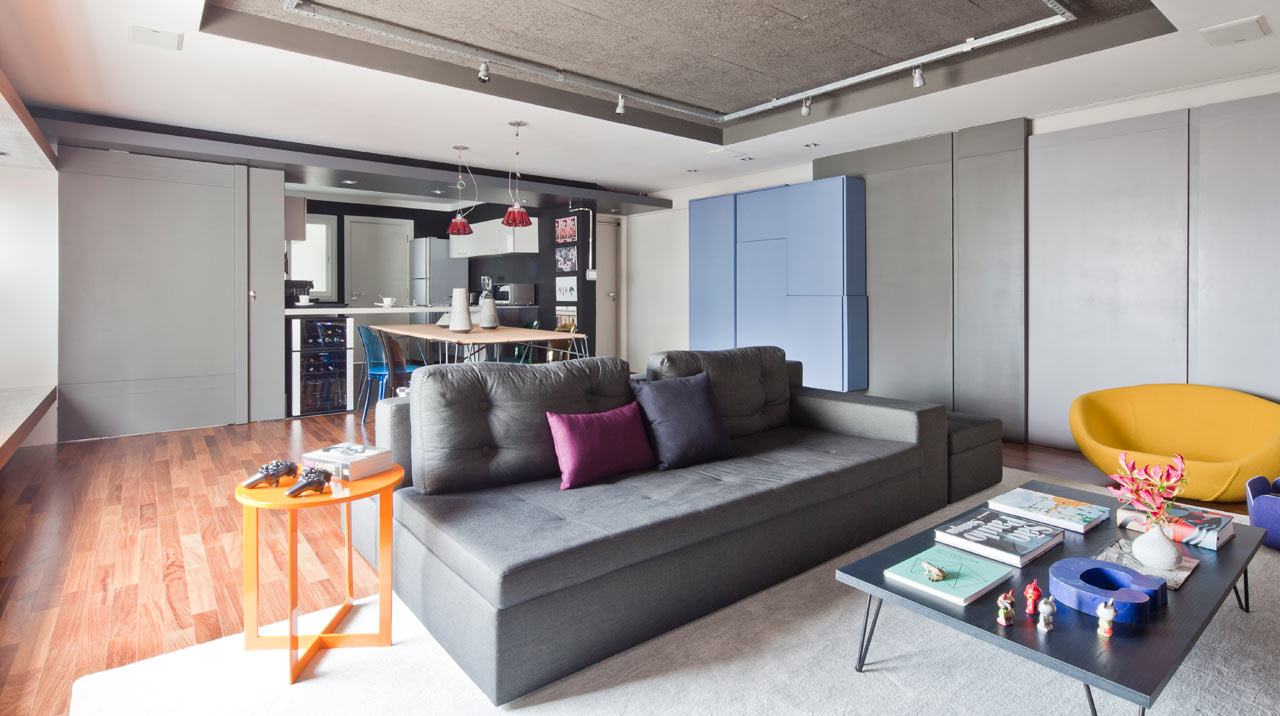 Дизайн однокомнатной квартиры функциональный