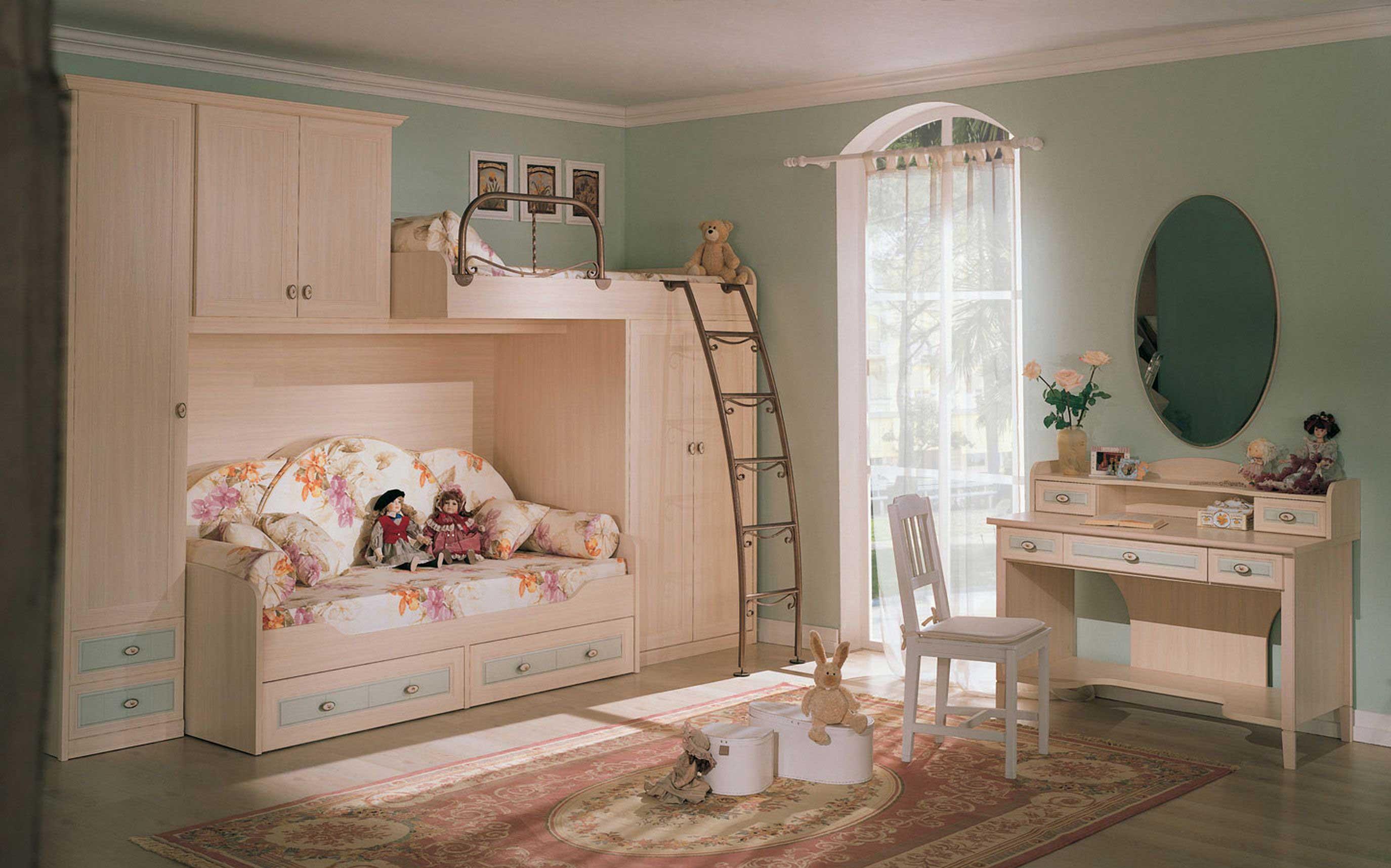 Детская комната с мебельным гарнитуром в стиле прованс