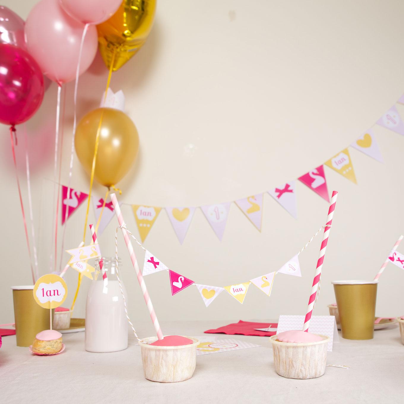 Оформление детского дня рождения гирляндой