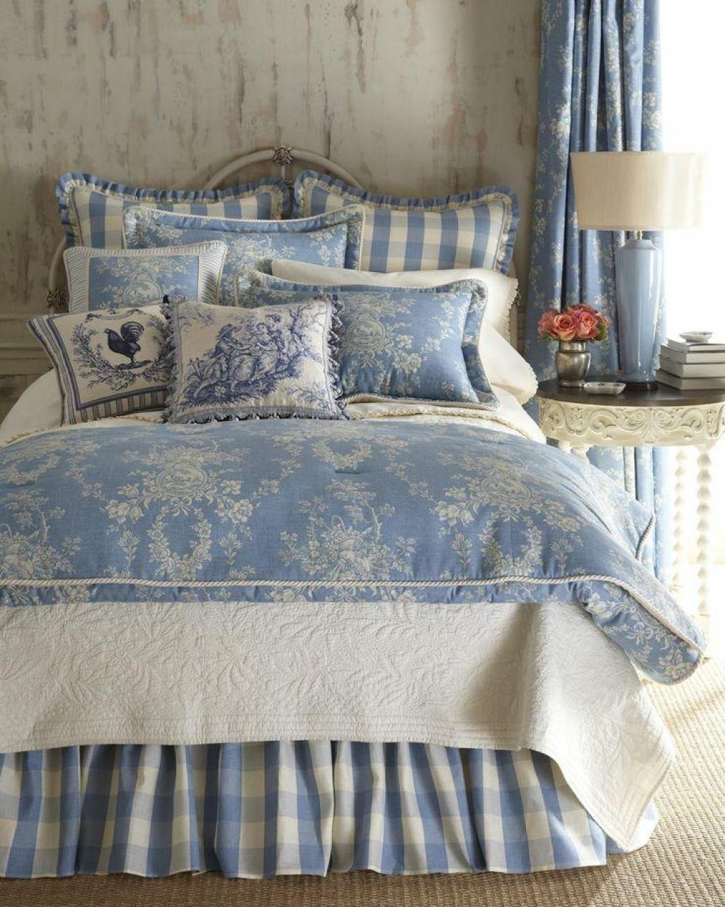Детская комната в стиле прованс голубая