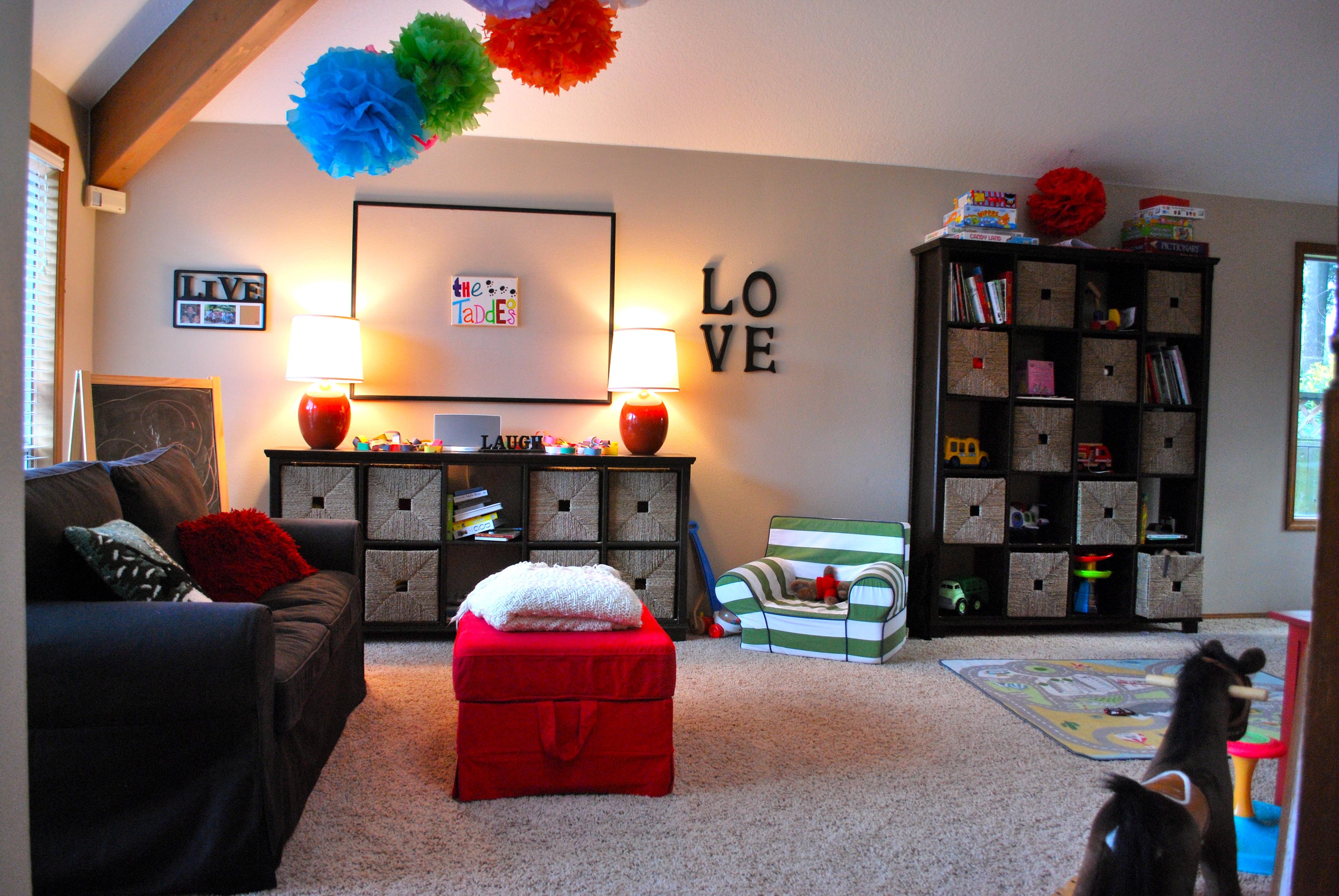 Детская в однокомнатной квартире с гостиной