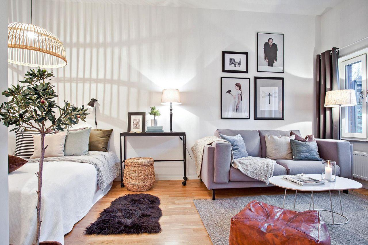 Спальня гостиная в однокомнатной квартире