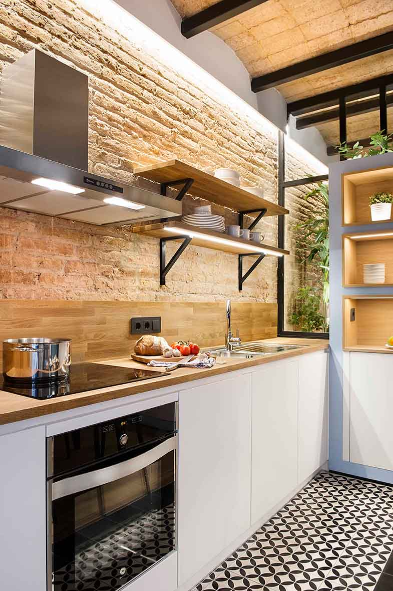 Дизайн маленькой кухни в индустриальном стиле