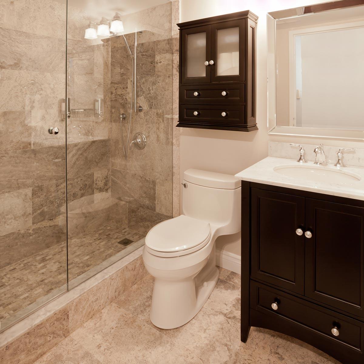 Ванная 4 кв м с каменной плиткой