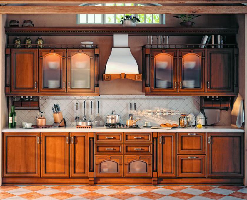Замена фасадов кухни в стиле кантри