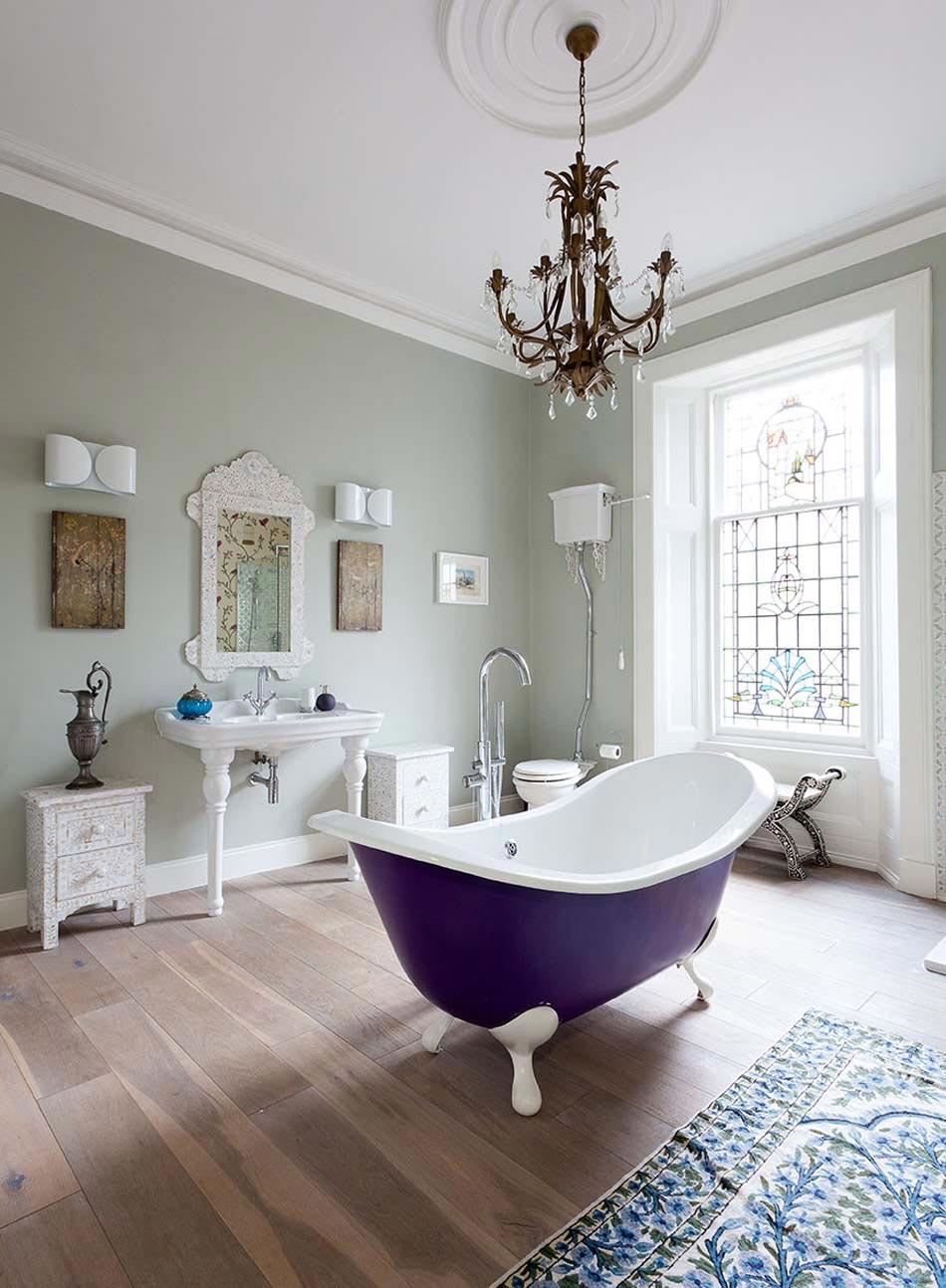 Интерьер ванной в колониальном стиле