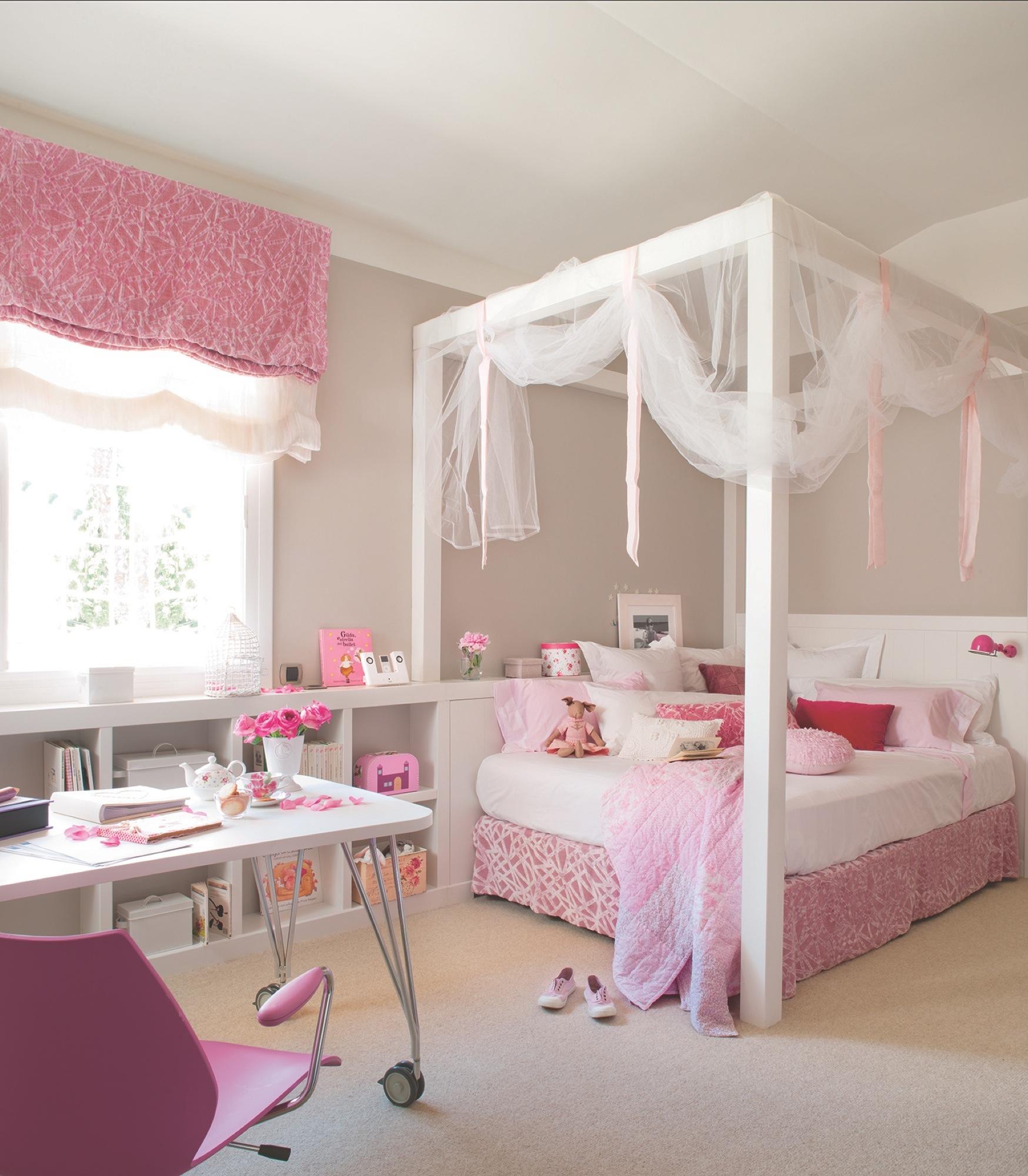 Кровать для детской комнаты девочки