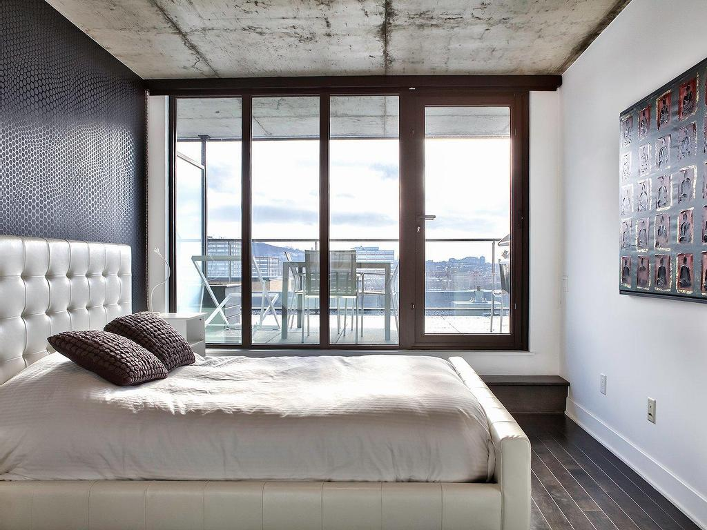 Маленькая спальня в стиле лофт
