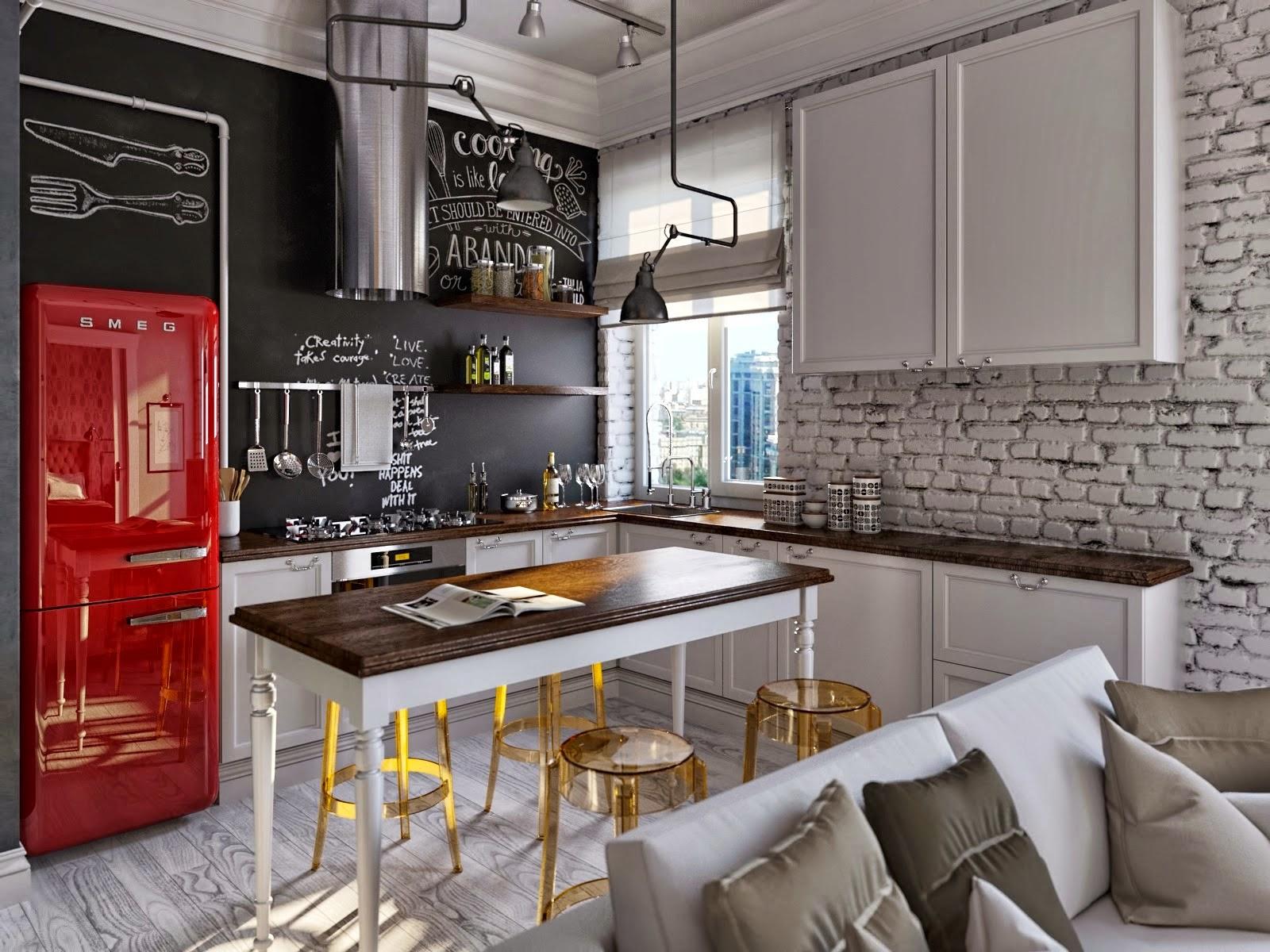 Кухня 9 кв м лофт