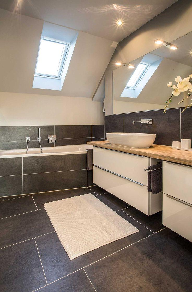 Совмещенная ванная комната на мансарде