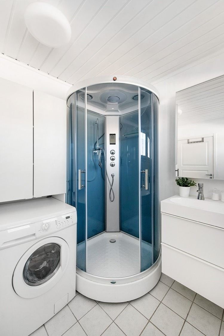Интерьер ванной со стиральной машинкой